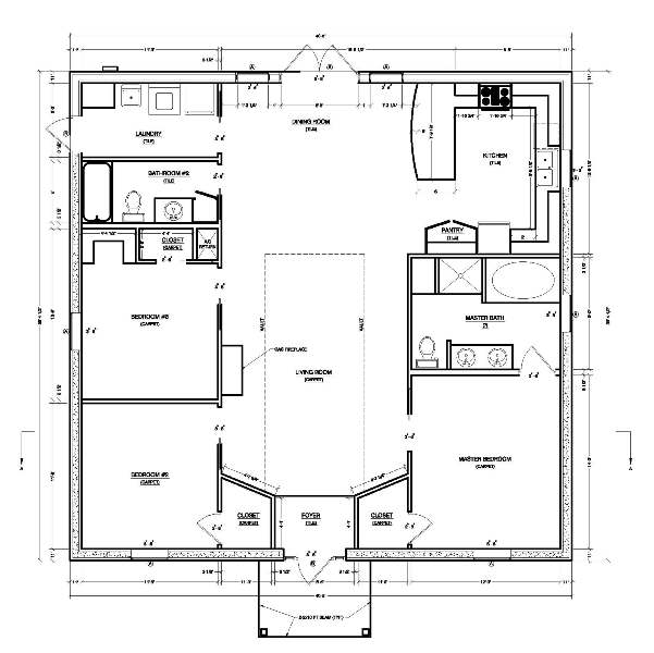 Concrete house plans that provide great value and protection for Concrete block homes floor plans